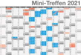 Aktueller Kalender aller deutschen Mini-Treffen 2021