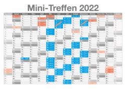 Aktuelle Termine aller deutschen Mini-Treffen 2022